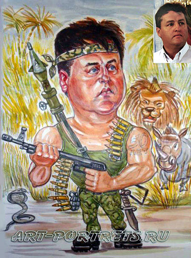 Insurgent cartoon. Jungle warfare in vietnam war