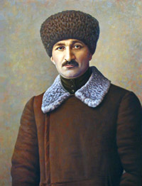 Portrait of a man in a fur hat