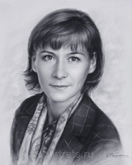 Drawing a portrait of a business woman in 2014