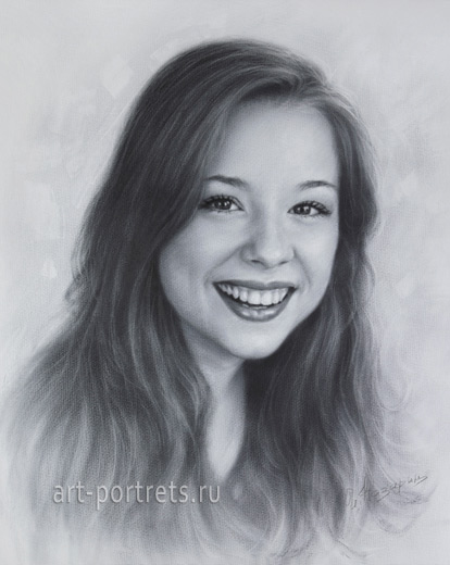 Portrait drawing actress Brittney Karbowski 2017