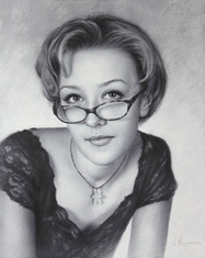 Drawing pretty girl with glasses 2015