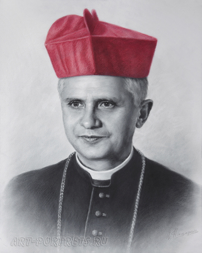 Portrait of Cardinal Ratzinger, Benedict XVI, in the world, Joseph Alois Ratzinger