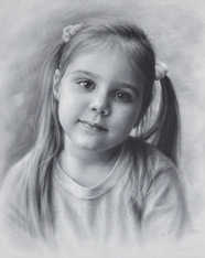 Portrait of a child's drawing. Nastya 2015