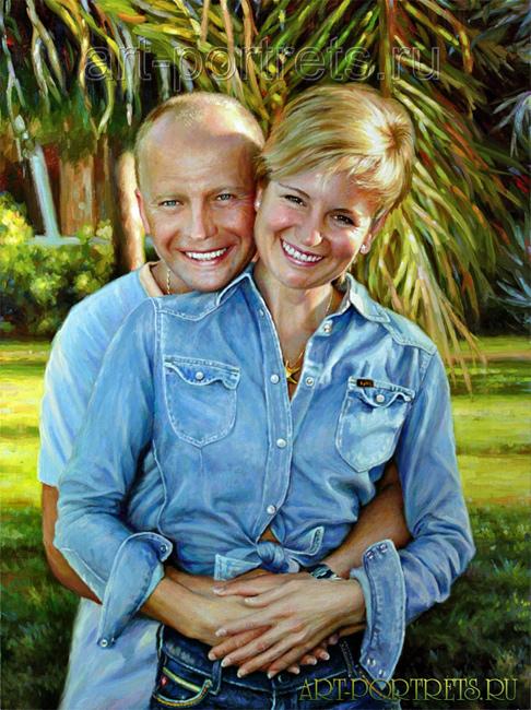 Картина парень и девушка