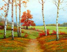 Живопись рисованные пейзажи