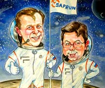 astronauts on the moon cartoon