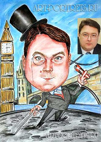 Лондон в картинках карикатура у биг