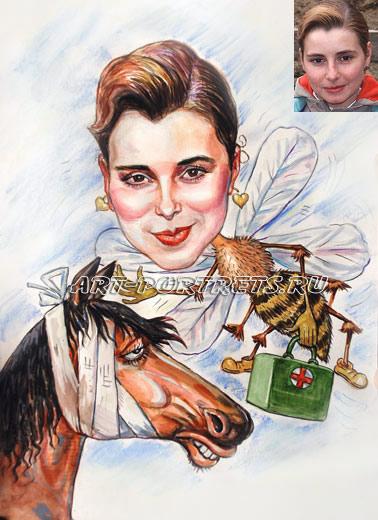 Веселая картинка о пчелке которая