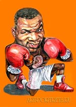 Mike  Tayson.  cartoon from photo to boxer