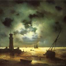 Берег моря ночью 1837 г