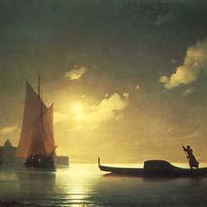 Гондольер на море ночью 1843 г
